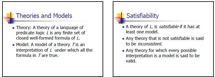 theories satisfiability